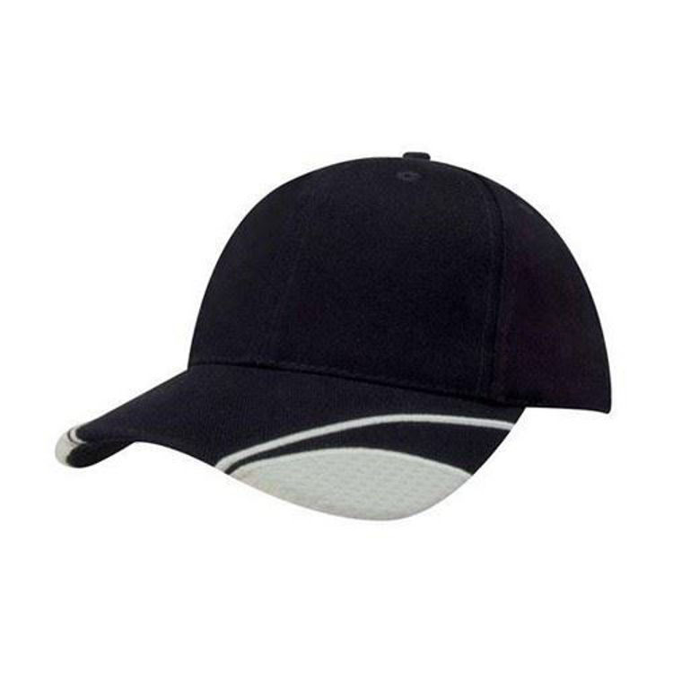 Picture of Brushed Heavy Cotton Cap with Mesh Inserts