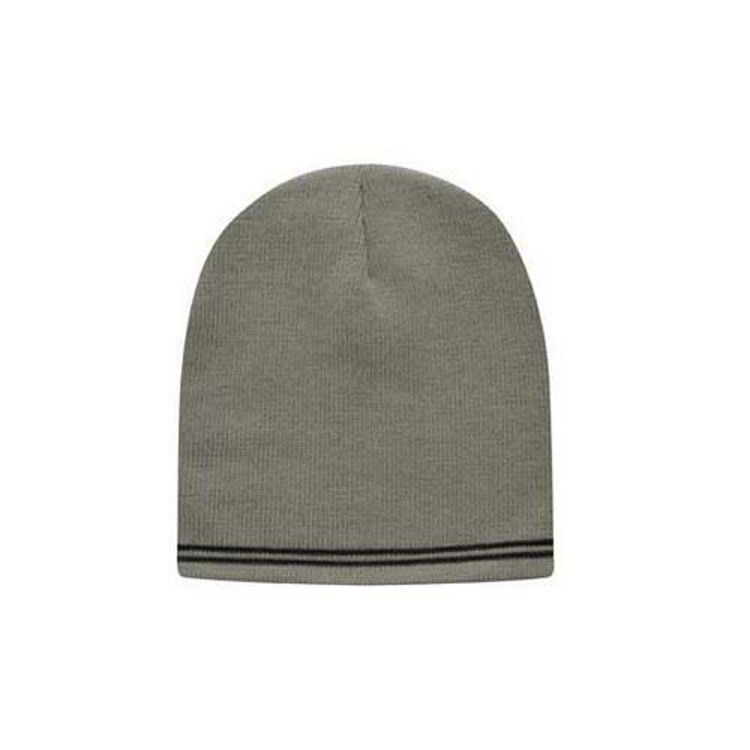 Picture of Skull Acrylic Beanie with Stripes