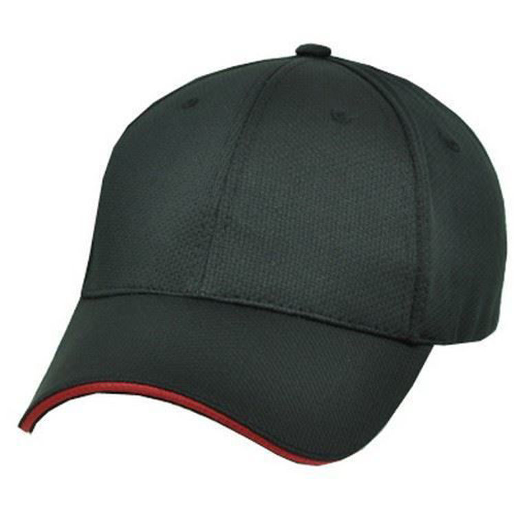 Picture of Structured 6 panel cap with sandwhich peak